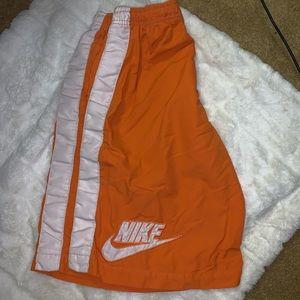 nike | orange active wear shorts